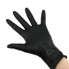 Soft nitrile handschoenen S-black